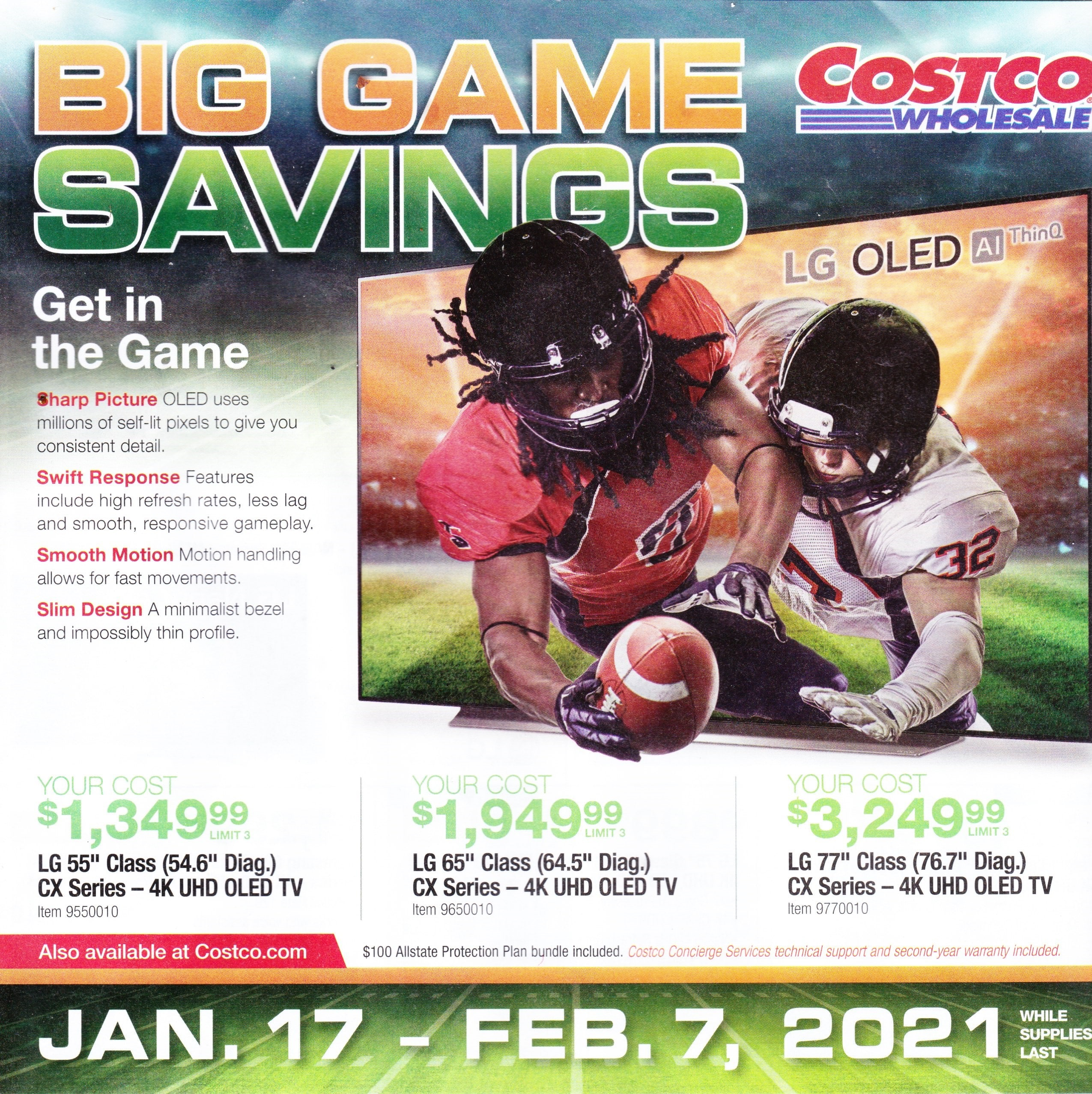 Costco Big Game Ad 1/17-2/7