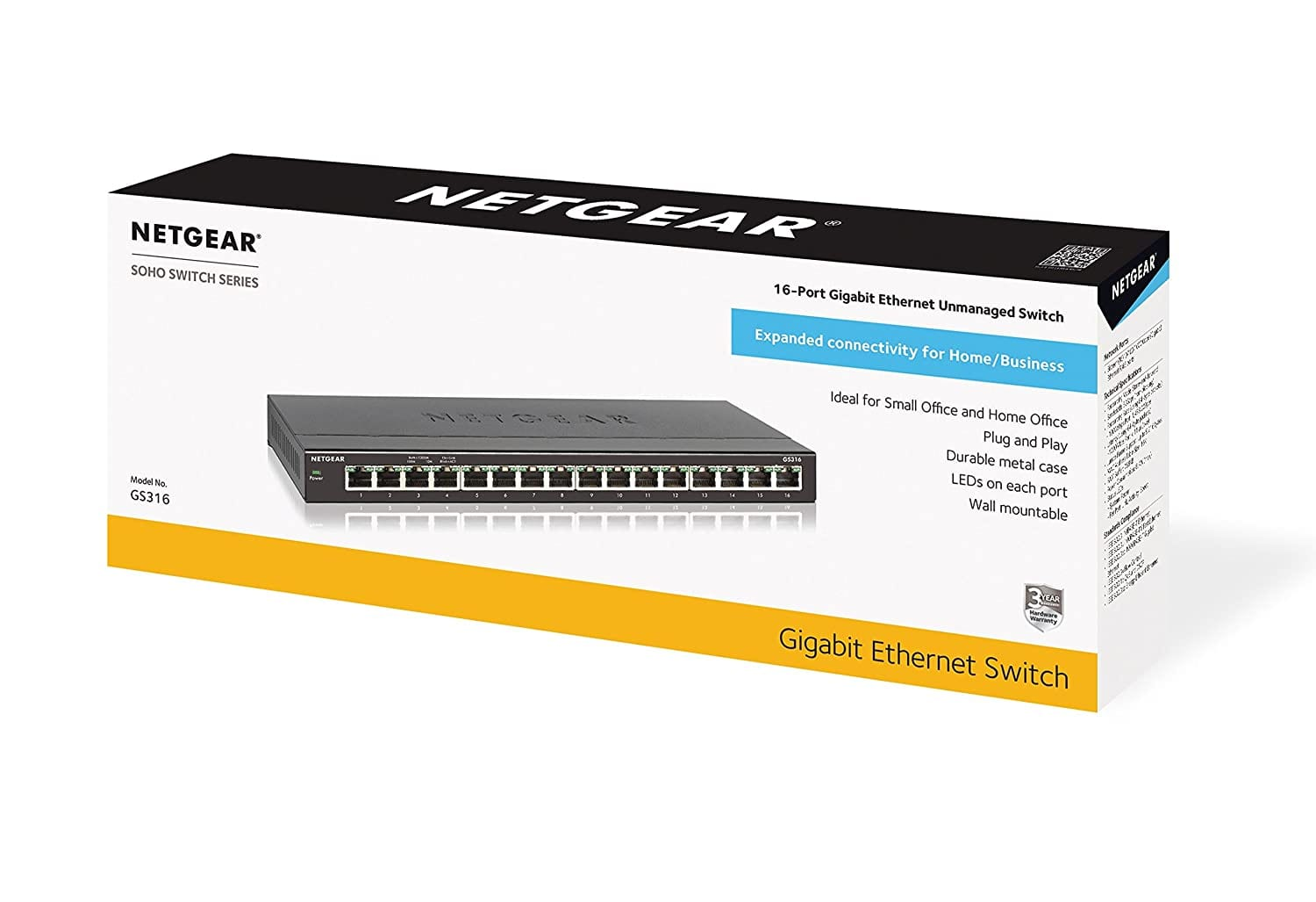 Netgear 16 Port Gigabit Desktop Switch $49.99