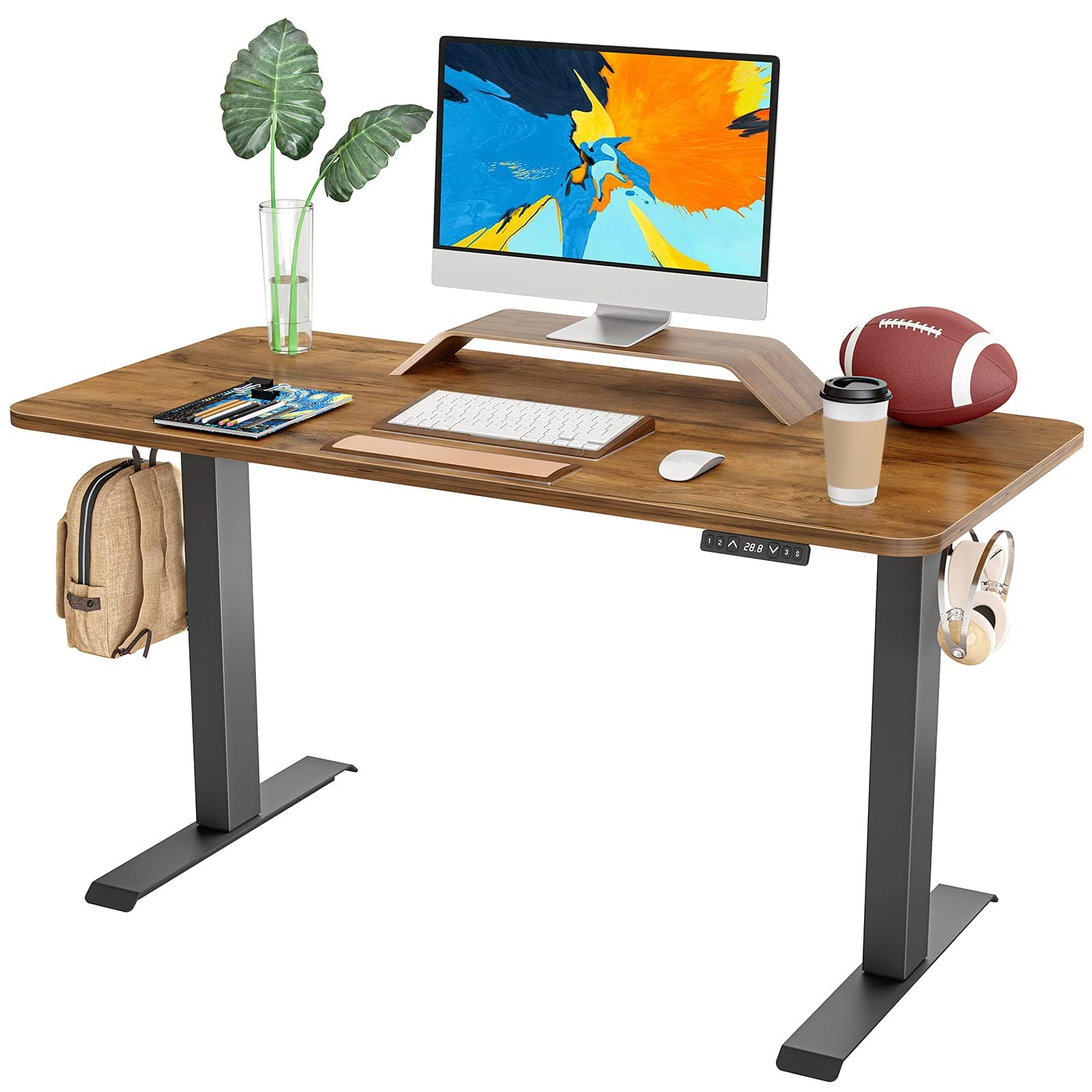 FAMISKY Dual Motor Adjustable Height Electric Standing Desk $199.99 at Amazon