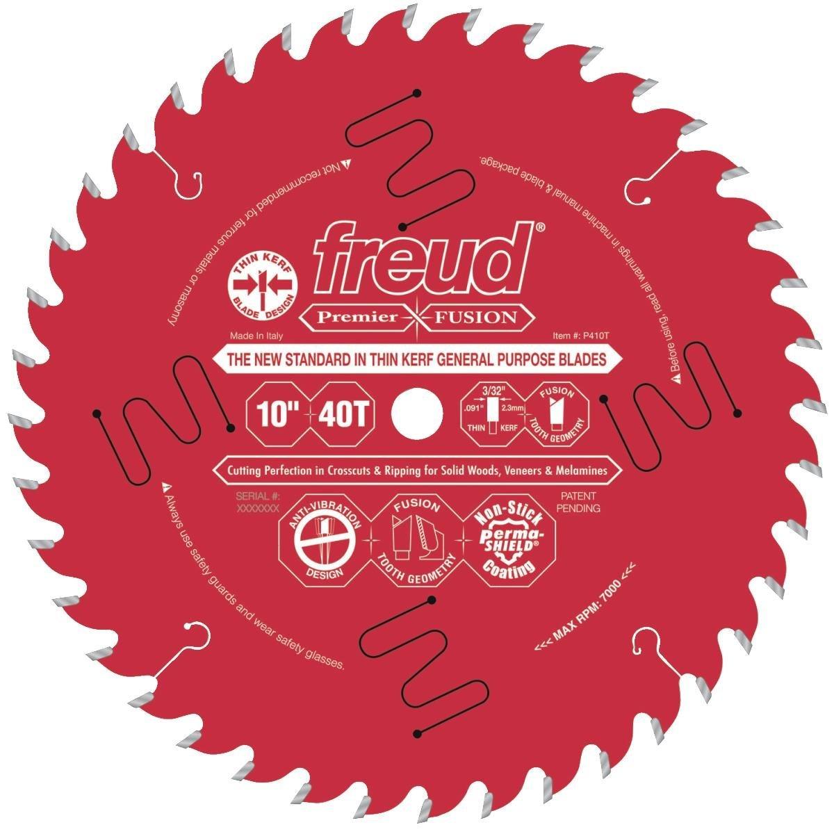 "Freud Premier Fusion 40T Thin Kerf 10"" Table Saw Blade - via Amazon $54.82"