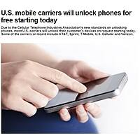 AT&T Business Deal: U.S. mobile carriers will unlock phones for free starting today (Feb 11, 2015)
