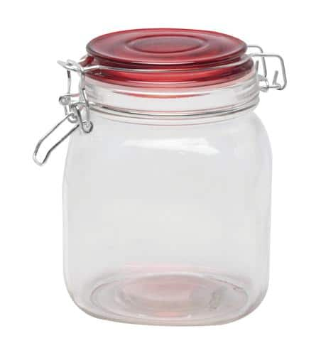 Blue harbor 30 oz glass canister with lid  $0.99 __ menards