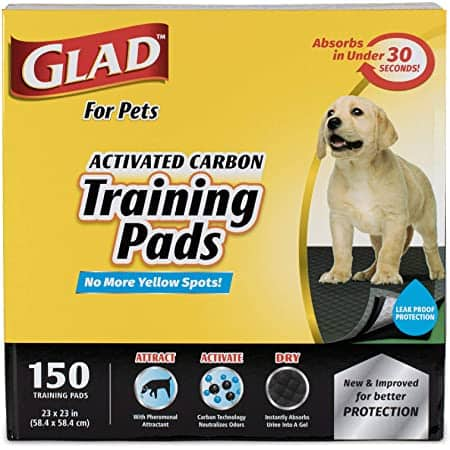 Glad for Pets Jumbo-Size Charcoal Puppy Pads 100ct $16.88 w/free prime shipping