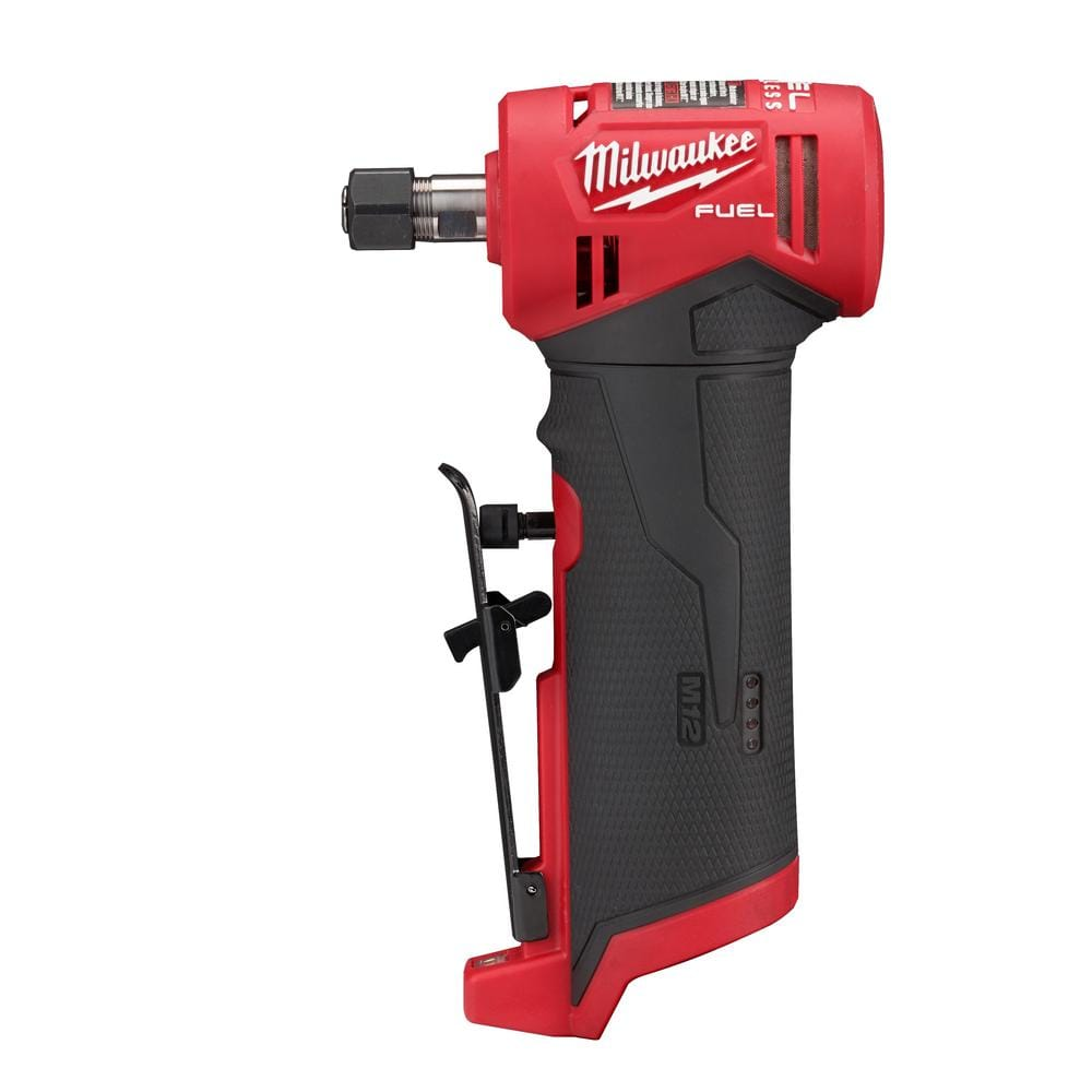 Milwaukee M12 FUEL 12-Volt Lithium-Ion Brushless Cordless 1/4 in. Right Angle Die Grinder (Tool-Only)-2485-20 - The Home Depot $131.33