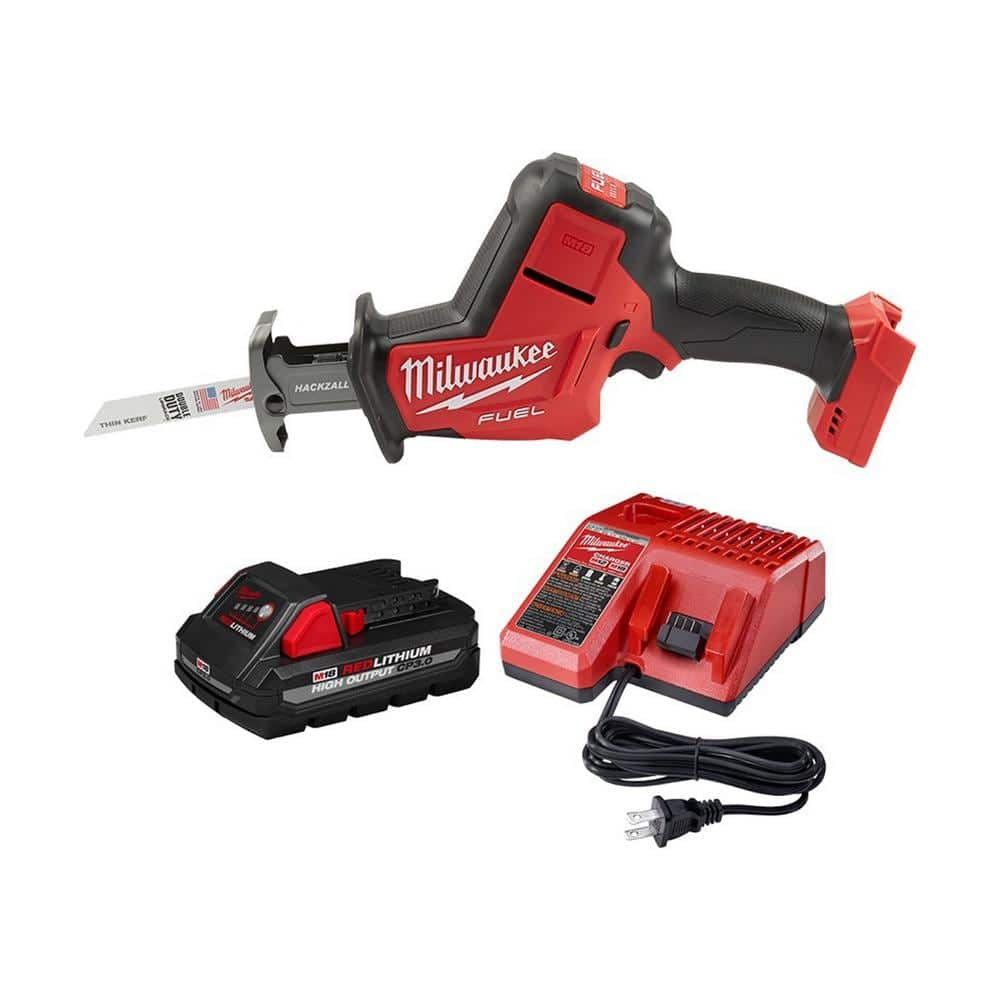 Milwaukee M18 FUEL 18-Volt Lithium-Ion Brushless Cordless HACKZALL Reciprocating Saw with 3.0 Ah Battery and Charger-2719-20-48-59-1835 - The Home Depot $159