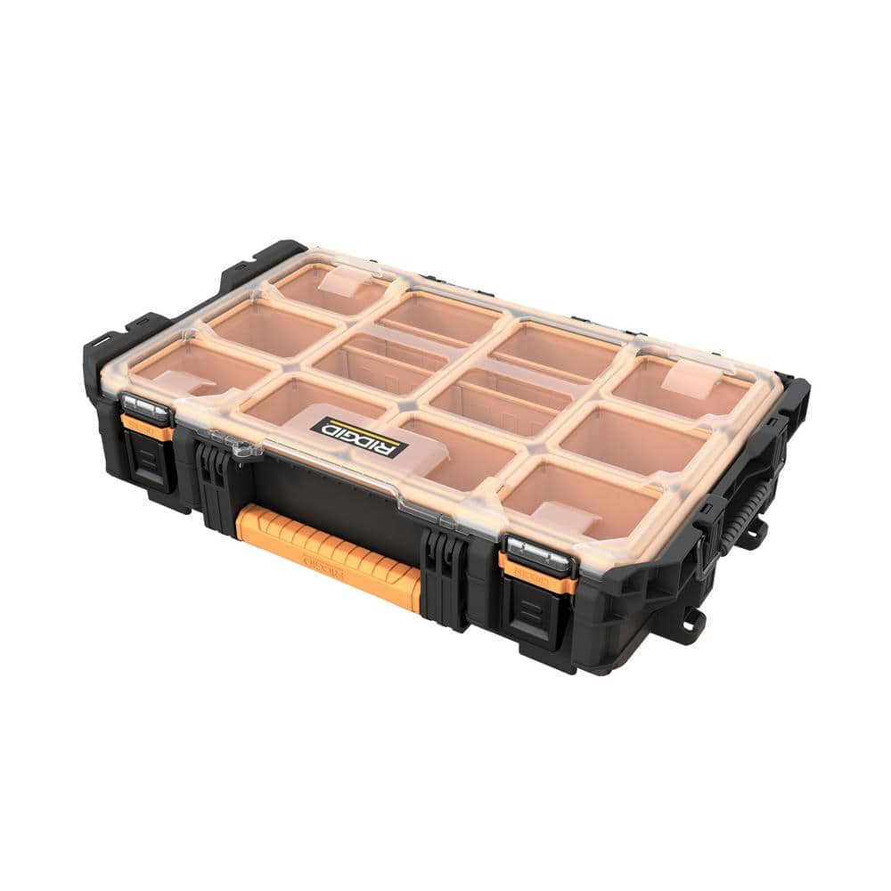 RIDGID Pro System Gear 10-Compartment Small Parts Organizer-238093 - The Home Depot $24.97