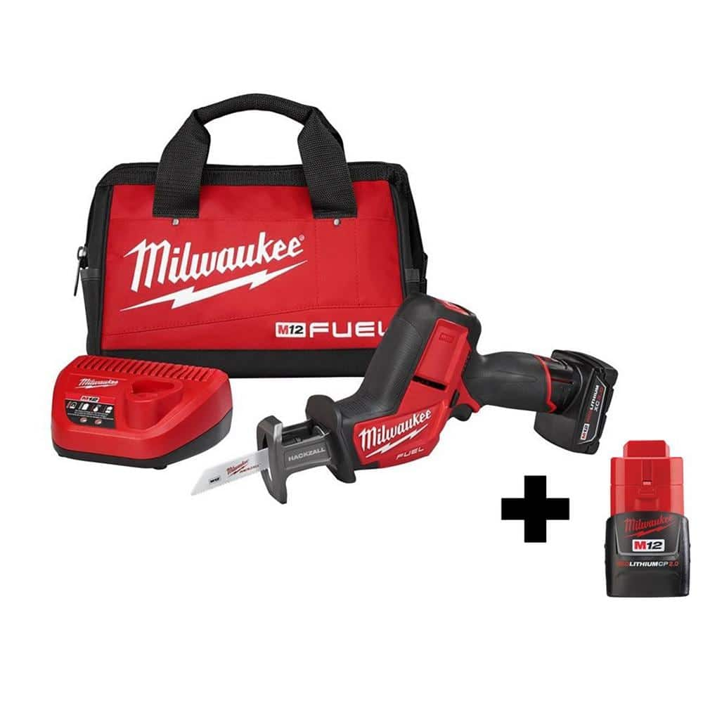 Milwaukee M12 FUEL 12-Volt Lithium-Ion Brushless Cordless HACKZALL Reciprocating Saw Kit with 2.0Ah Battery-2520-21XC-48-11-2420 - The Home Depot $159