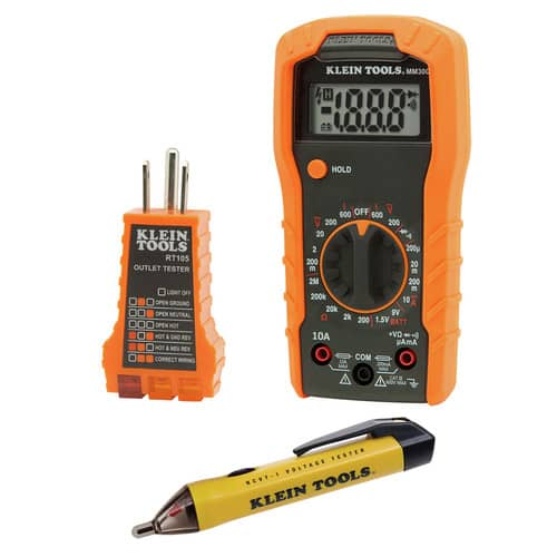 Klein Tools 69149 Cordless Multimeter/ Non-Contact Volt Tester/ Outlet Tester Kit $29.99