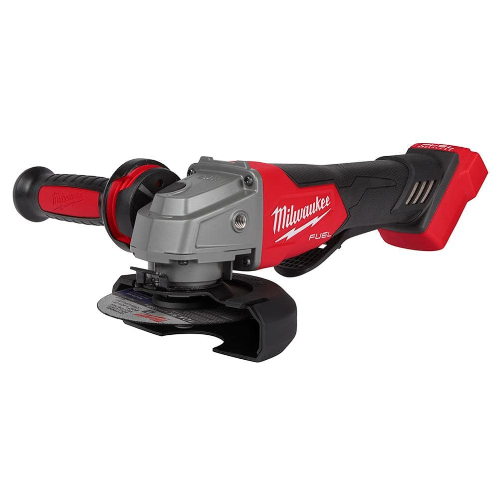 Milwaukee M18 FUEL 18-Volt Lithium-Ion Brushless Cordless 4-1/2 in./5 in. Grinder w/Paddle Switch (Tool-Only)-2880-20 - The Home Depot $100.76 after the Hack.