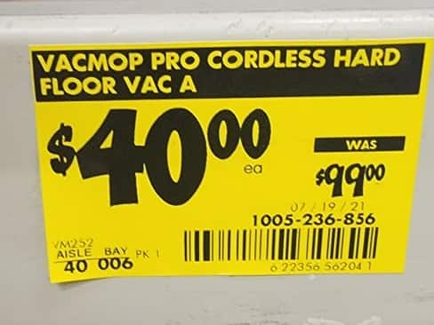 VACMOP Pro Cordless Hard Floor Vacuum Spray Mop with Disposable VACMOP Pad Instore Home Depot only $40