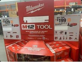 Milwaukee M12 12-Volt Lithium-Ion Starter Kit with Two 6.0 Ah Battery Packs and Charger-48-59-2462 - The Home Depot $199