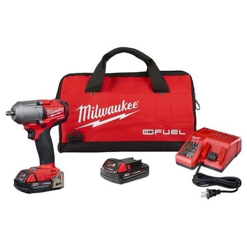 $199, M18 FUEL 18-Volt Lithium-Ion Mid Torque Brushless Cordless 3/8 in. Impact Wrench W/ Friction Ring W/(2) 2.0Ah Batteries $199