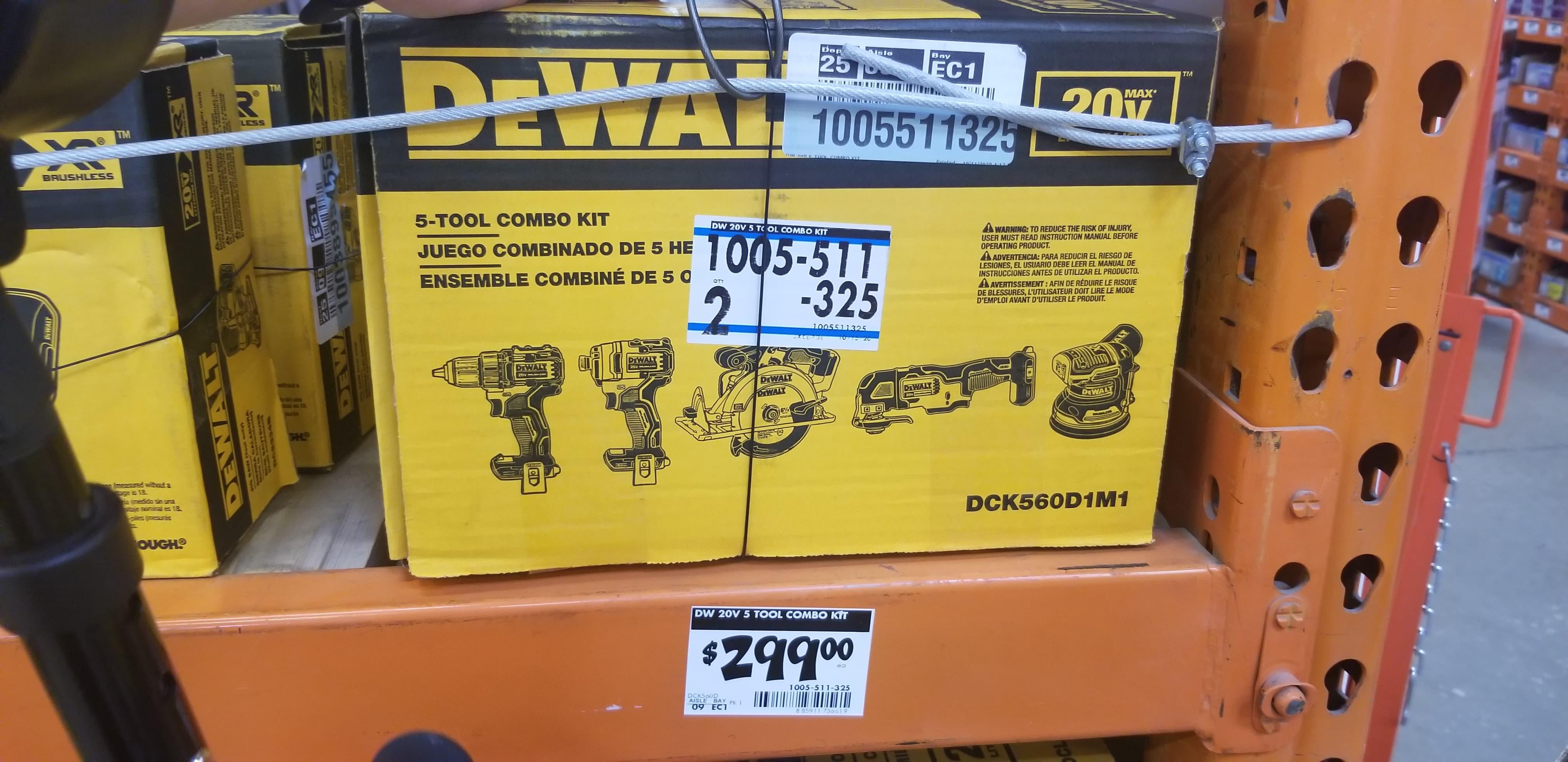 $299, DeWalt 5 Tool Kit DCK560D1M1