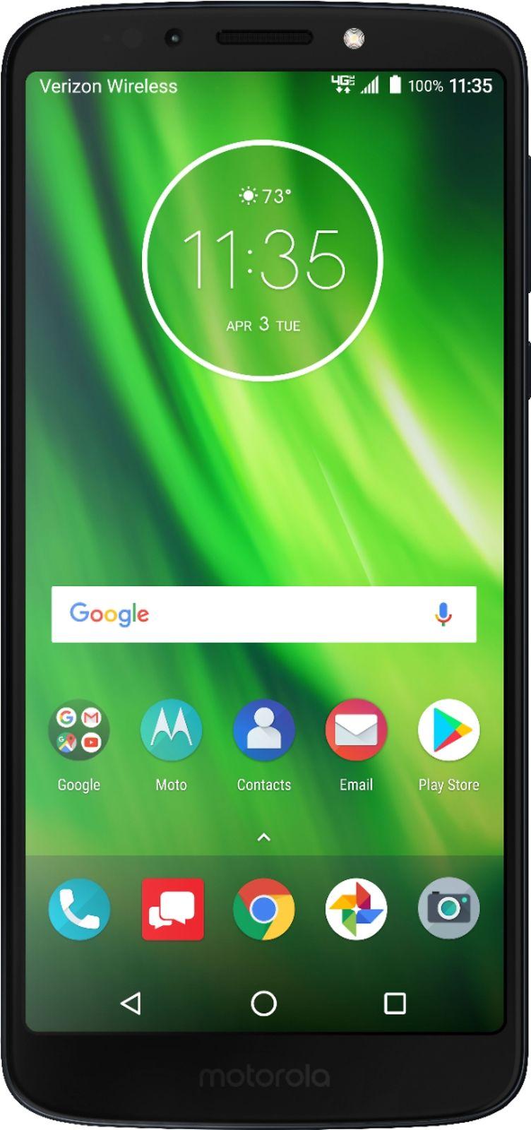 Verizon Prepaid - Moto G6 Play with 16GB Memory Prepaid Cell Phone - Deep Indigo $99.99