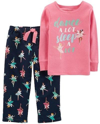 Toddler Girl Carter's Top & Microfleece Bottoms Pajama Set $6.39
