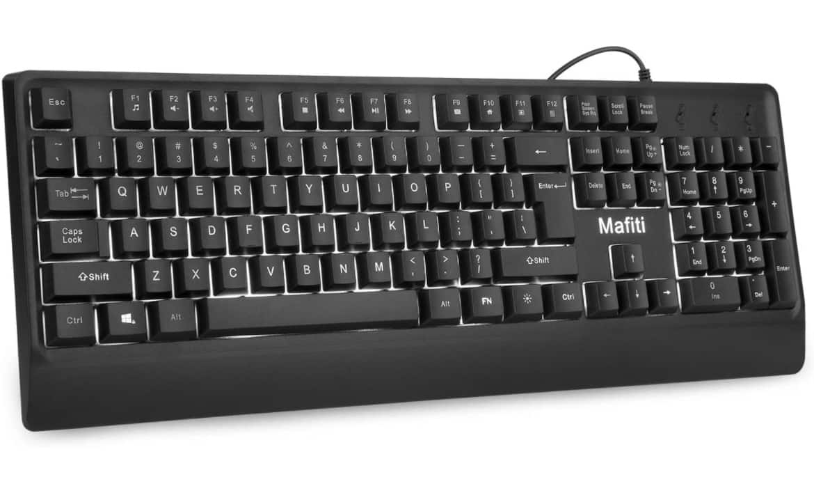 Mafiti Computer Office Keyboard Wired USB 104 Keys $11.99