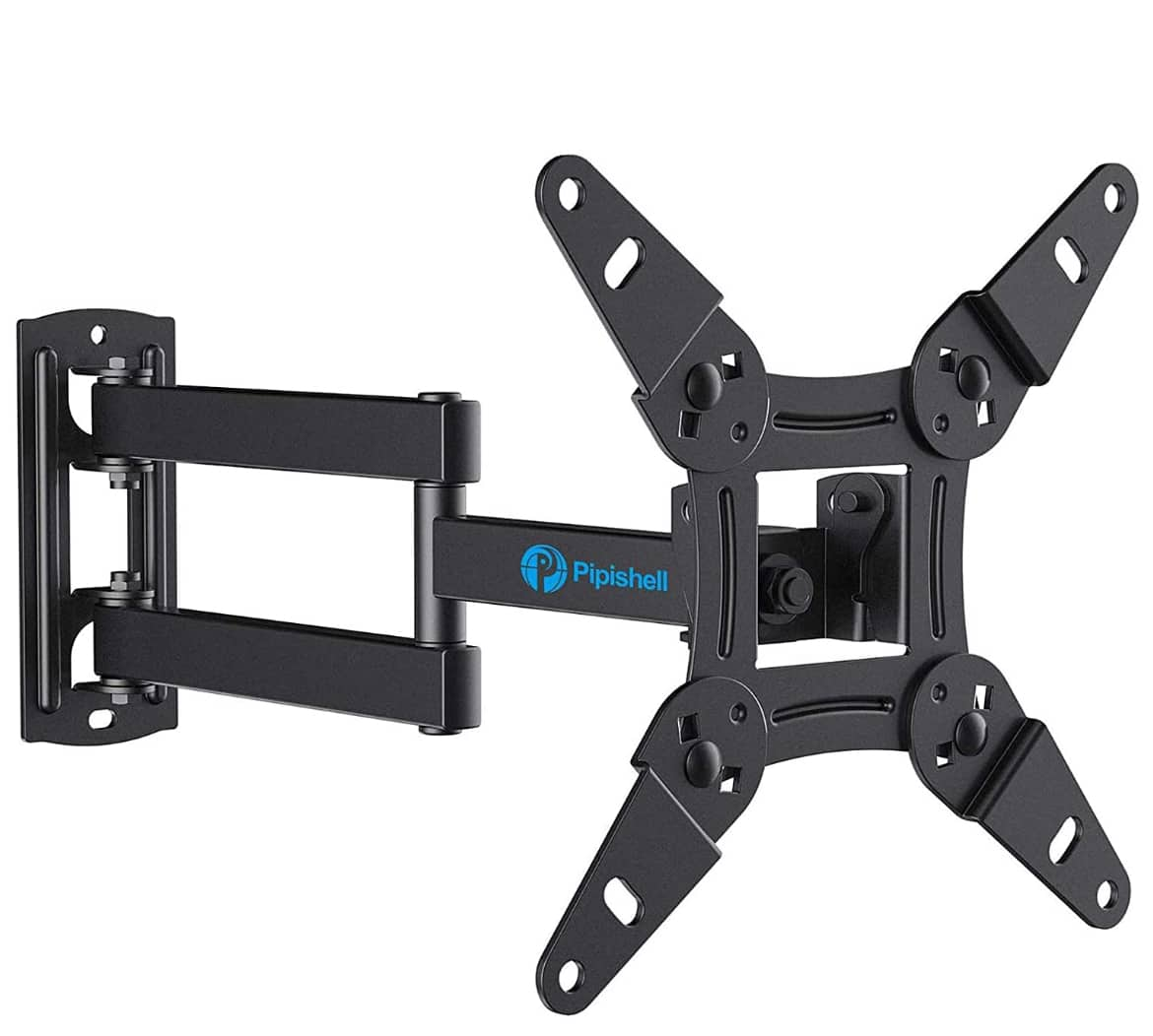 Full Motion TV Monitor Wall Mount Bracket Articulating Arms Swivels Tilts 13-42 inch TVs - 44lbs $16.99 @Amazon