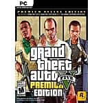 Xbox One / PC Digital Games: Grand Theft Auto V Premium Online Edition (PC) $13 & Much More