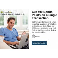 Best Buy Deal: 100 bonus Best Buy Reward Zone points on 1st purchase thru Reward Zone Mall during month of May