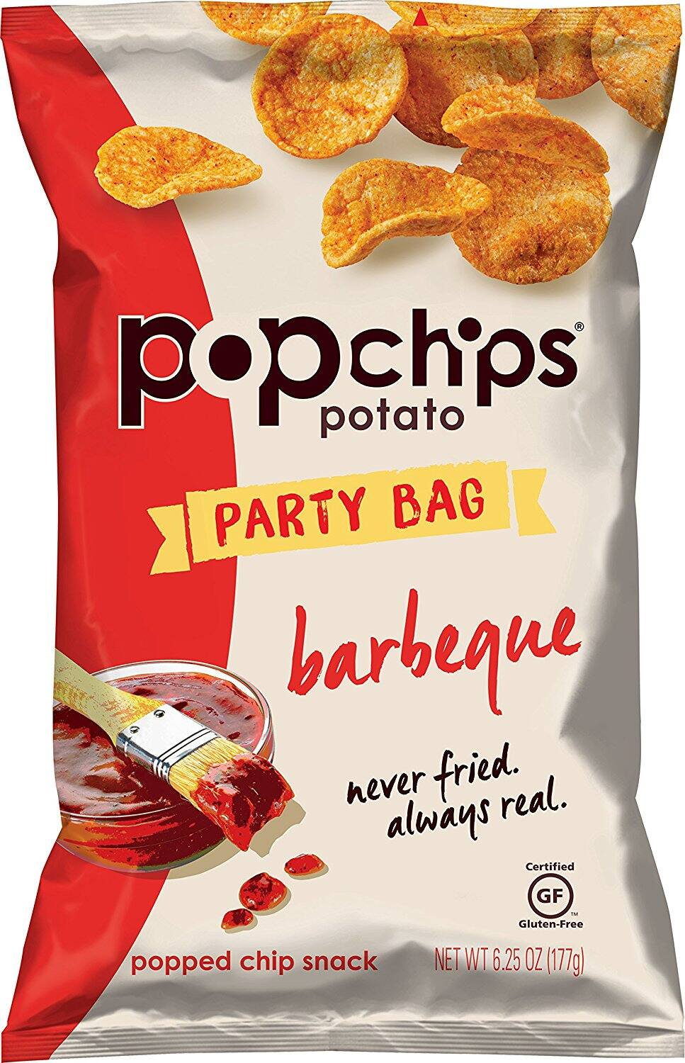 Popchips Potato Chips, BBQ, Super Share Size (6.25 oz Bags) Pack of 12 @amazon: $26 w/ 5% S&S or $22 w/ 15% S&S AC