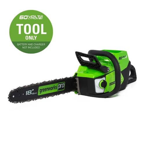 Lowe's Greenworks 60v Clearance Greenworks 60-volt Max Lithium Ion 18-in Brushless Cordless Electric Chainsaw (Battery Not Included) $99.50 & More + Free Shipping