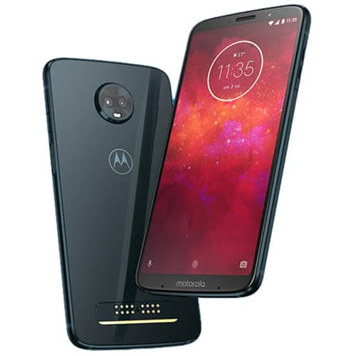 64GB Moto Z3 Play Unlocked Smartphone w/ 2 Shells + 3-Month 12GB Mint Mobile Prepaid SIM Card Kit $200 + Free S/H