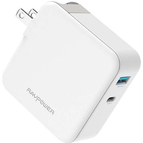 RAVPower Pioneer 45W Power Delivery 3.0 & QC Dual Port Wall Charger $14.95 + Free S/H
