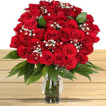 Three Dozen Red Roses Flower Arrangement + Vase and  FREE Delivery on Valentine's Day. $59.99