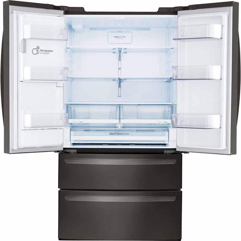 LG 28 cu. ft. 4-Door Refrigerator with SmartThinQ Technology (BLACK STAINLESS STEEL ONLY) $1898