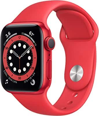 New Apple Watch Series 6 (GPS, 40mm) - (Product) RED - Aluminum Case with (Product) RED - Sport Band $264.99