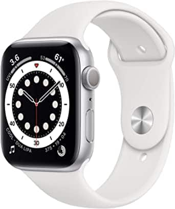 New Apple Watch Series 6 (GPS, 44mm) - Silver Aluminum Case with White Sport Band $359.99 at Amazon