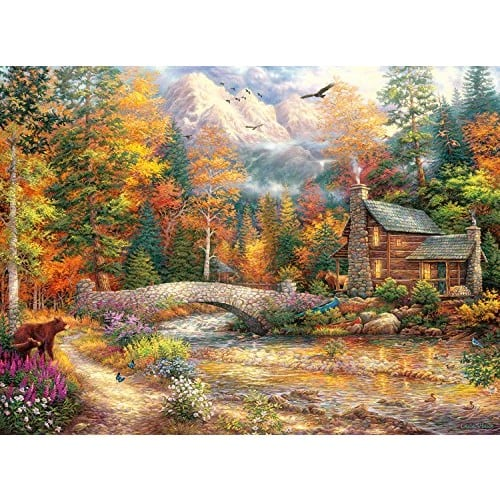 Buffalo Games Call of The Wild By Chuck Pinson Jigsaw Puzzle from The Escapes Collection (1000 Piece) $8.88