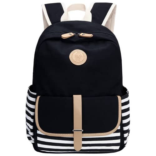 Bagerly Lightweight Canvas Backpack School Backpack $18.84 + ship @amazon.com