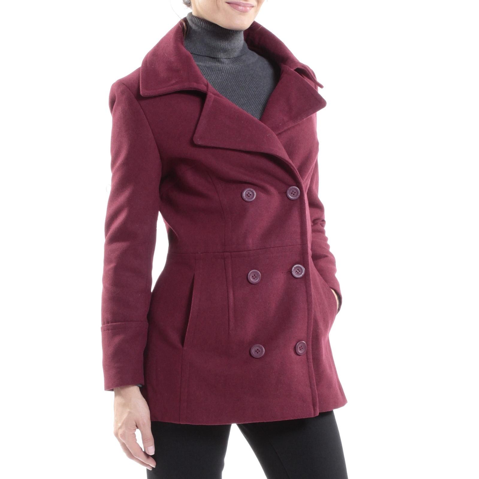 Alpine Swiss Emma Womens Peacoat Jacket Wool Blazer Double Breasted Overcoat New $29.99 + fs