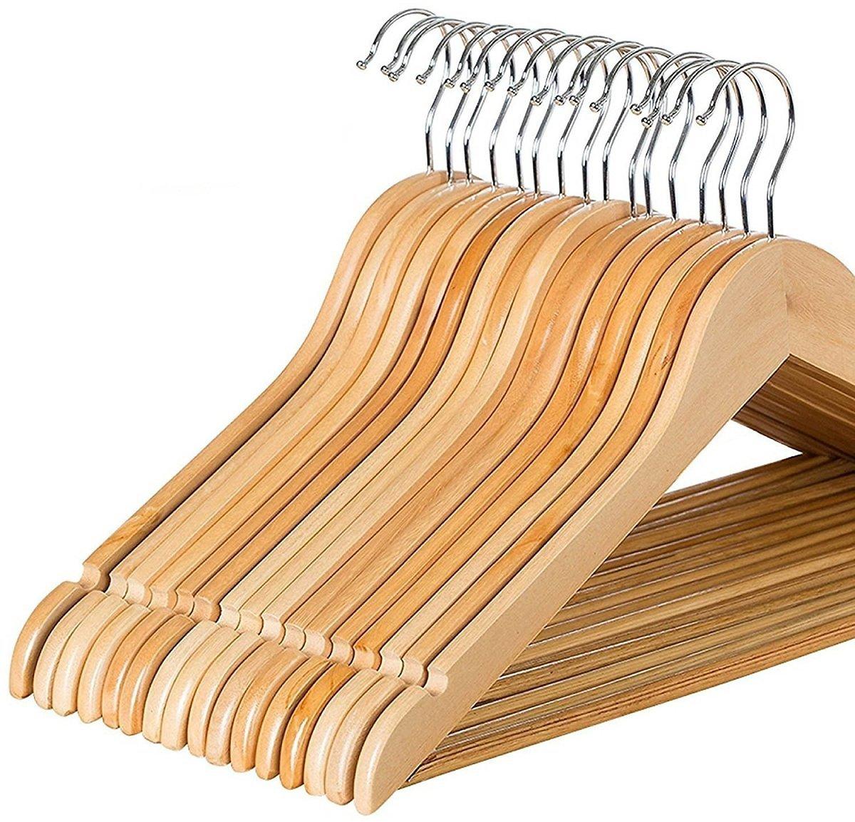Zober Solid Wood Suit Hangers - 20 Pack $14.99