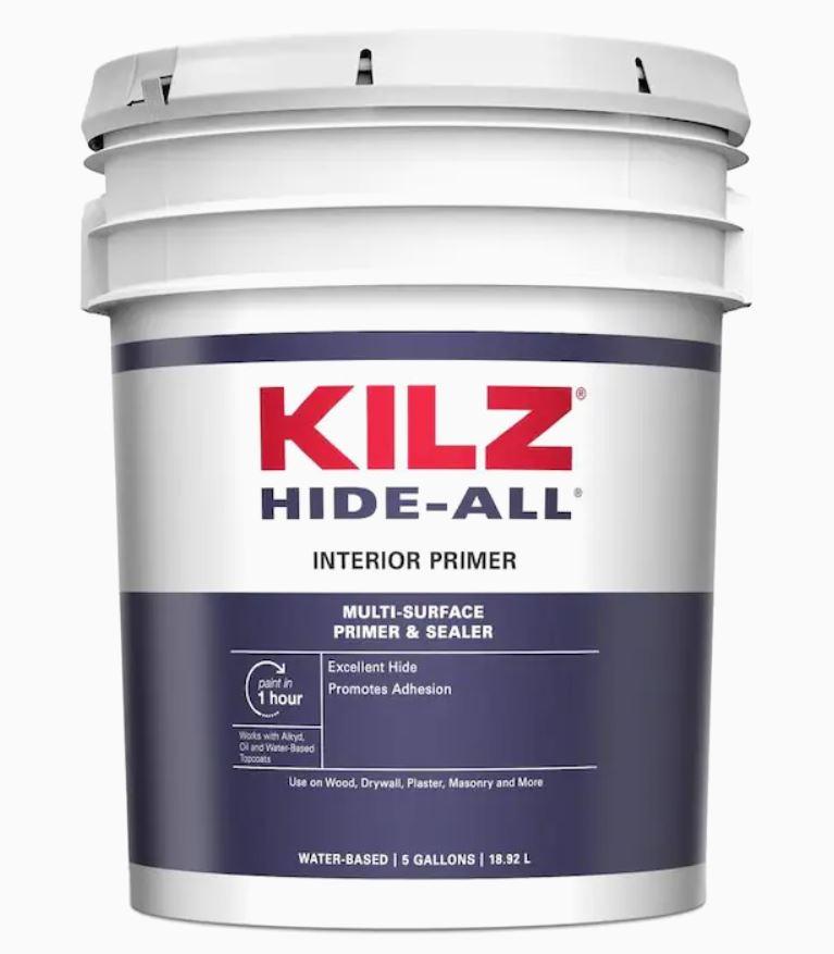 KILZ (5 Gallon) Hide-All Interior Multi-Purpose Water-Based Multi-surface Primer YMMV $16.25