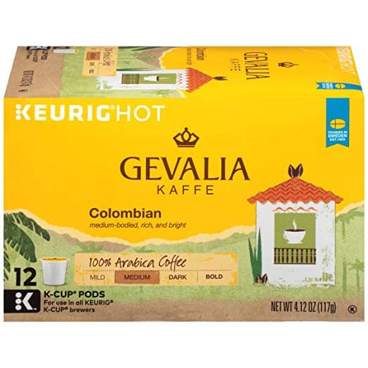12 pack .34oz Gevalia Kaffee & McCafe K-Cups and 12oz Ground Coffee. $3.99 Limit 6