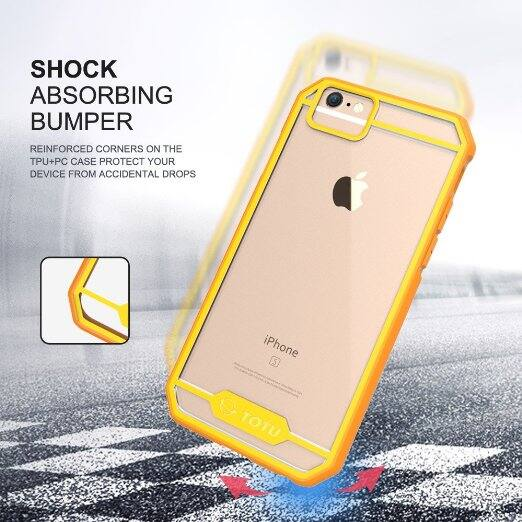 Clear/Orange Yellow Crystal Clear iphone 6s case $2.97 + FS @Amazon