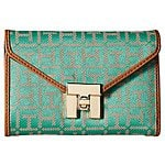 Tommy Hilfiger Turnlock Monogram Jacquard Medium Flap Wallet $39.99 + fs @6pm.com