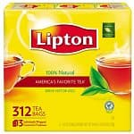 312-Count Lipton 100 % Natural Tea Bags $9 or 2-Pack 70.5-oz Lipton Iced Tea Sugar Sweetened Iced Tea Mix (Natural Lemon Flavor) $7.50 + Free Shipping