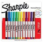 12-Pack Sharpie Permanent Ultra-Fine Point Markers (Assorted)  $4.40 & More + Free Store Pickup