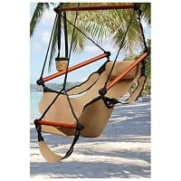 Rakuten Deal: Hammock Hanging Chair Air Deluxe Sky Swing Outdoor Chair (Various Colors) $27.95 + Free Shipping (New Customers Only)