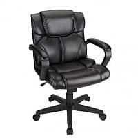 Office Depot Deal: Realspace Briessa Mid-Back Vinyl Chair (Black or Brown/Black)