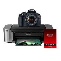RitzCamera Deal: Canon T5 DSLR  w/ 18-55mm Lens + Pixma Pro-100 Printer + 50-pack Photo Paper