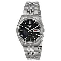 Rakuten (Buy.com) Deal: Seiko Men's Automatic Black Dial Stainless Steel Watch or Seiko 5 Men's Stainless Steel Black Dial Self Winding Automatic Watch + $8 Rakuten Cash $39.95  & More + Free Shipping