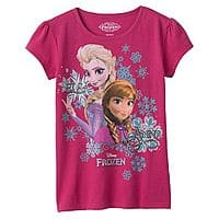 Kohls Deal: Disney Frozen Tees for Kids (Various Styles)