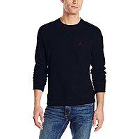 Amazon Deal: Nautica Men's Sueded Fleece Crew Neck Sweatshirt (various colors)