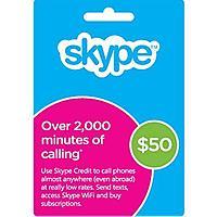 Newegg Deal: Skype Prepaid Credit: $50 Credit $32, $25 Credit