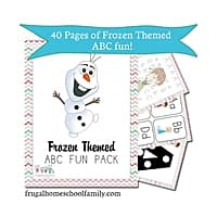 Educents Deal: Frozen-Themed ABC + Math Pack (PDF Download)