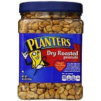 Amazon Deal: 3-Pack 34.5oz Planters Dry Roasted Peanuts w/ Pure Sea Salt